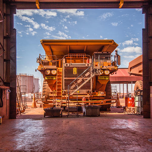 Industrial Photography, Anglo American Excavator Trucks, South Africa