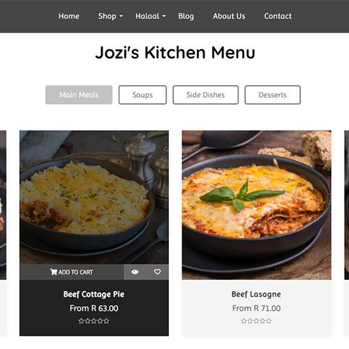 Jozi's Kitchen - Thumbnail - Shopify Website Development