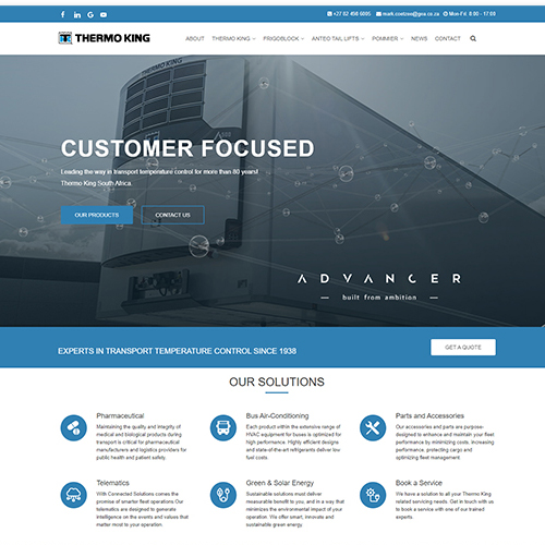 Thermo King - Home Page - HTML Web Development