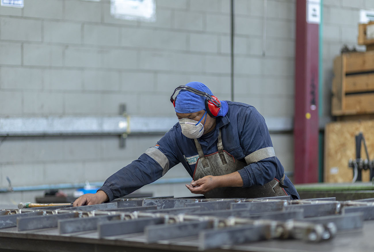 Industrial Photography, Buhler factory worker