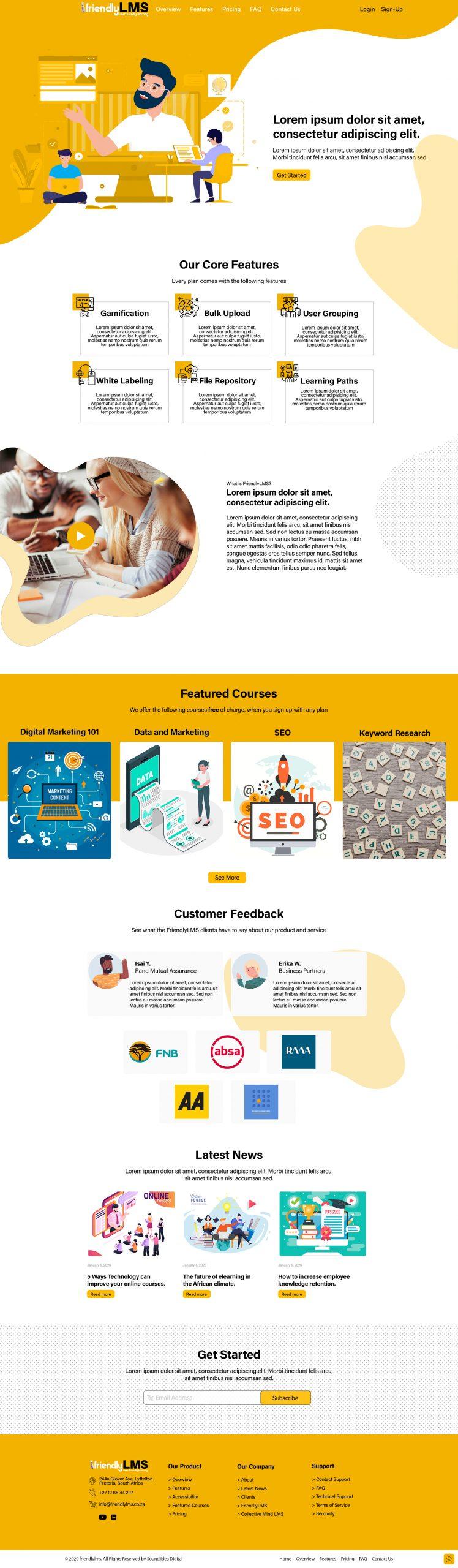Friendly LMS Web Development and Brand CI