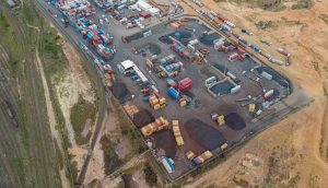 Aerial and Drone Photography of a worksite