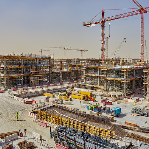 Construction Photography, Dubai Expo build site by Peri