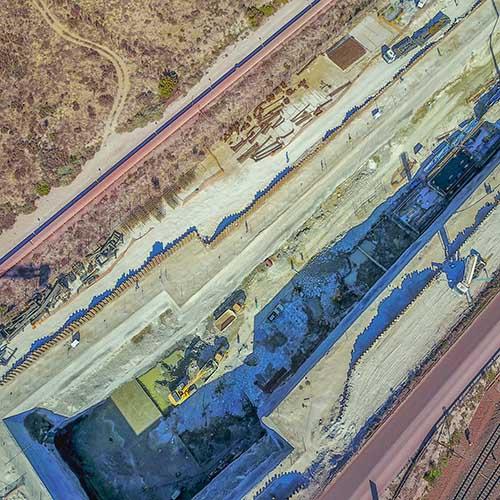 Drone Photography, Tipler 3 bridge construction site