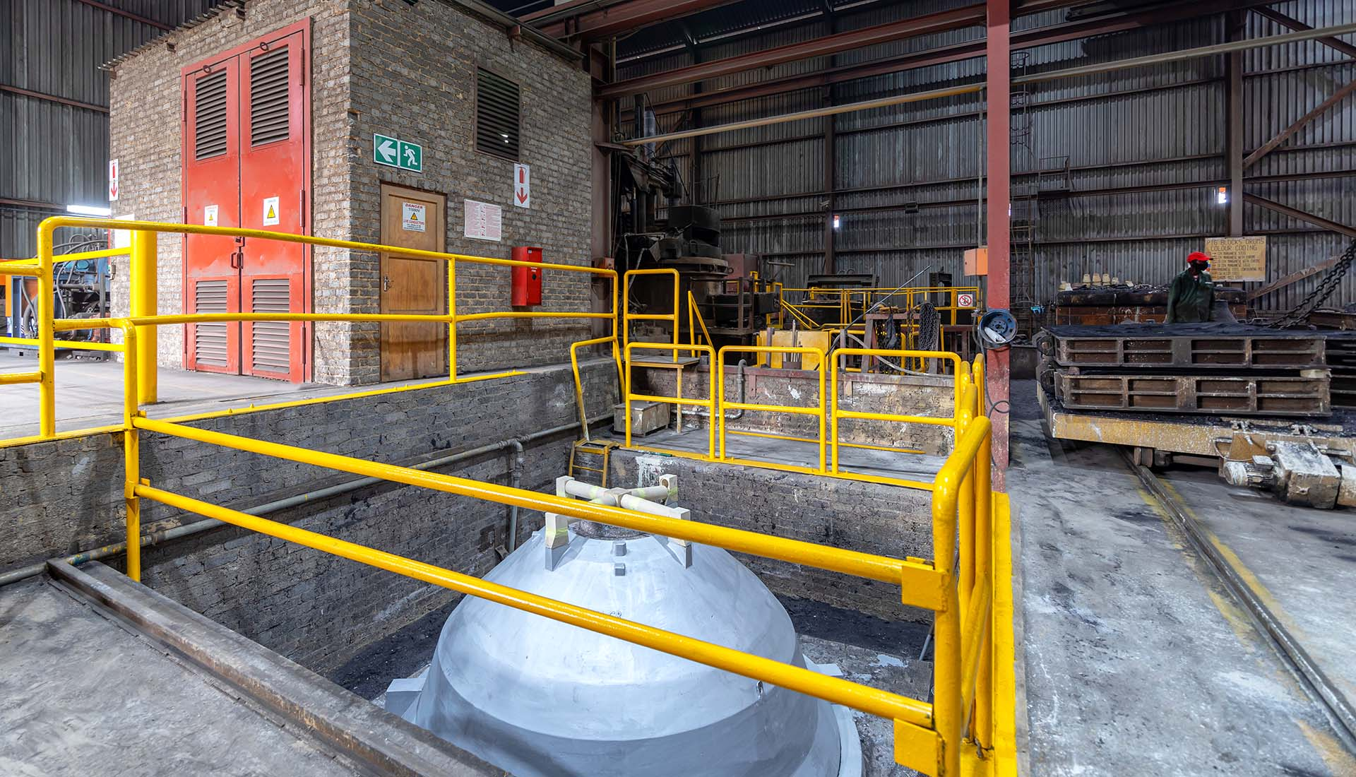 Industrial Photography, Foundry warehouse.