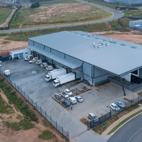 Drone Photograph of Emperor foods facility